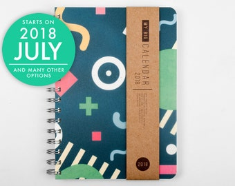 Weekly Planner 2018 2019 with a high quality paper! Positive vibration A5 Diary Weekly Calendar Calendario Kalender Agenda! Open-dated
