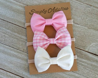 Baby bows, head bands, hair clips, vintage bows