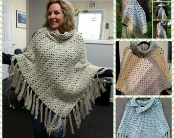 PDF Crochet Pattern for September Splendor Poncho