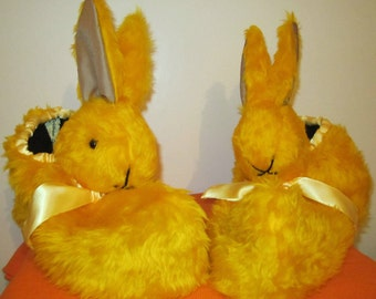 Yellow Rabbit Head Slippers Made to Measure Present for Fathers Made to Order Gift for Mom Any Occasion Gift Dads Day Present Novelty Items