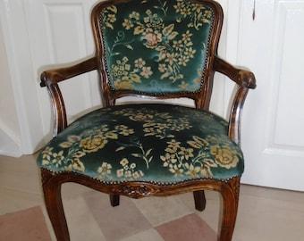 Louis XV Style Oak Armchair, Decorative Armchair, Antique Armchair, Chairs,