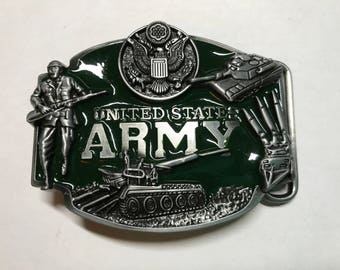 US ARMY Beautiful Green Belt Buckle With Army Designs
