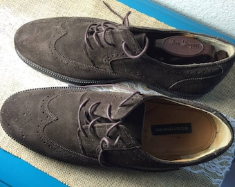 Bostonian Size 11 Brown Suede Wingtip Lace Up