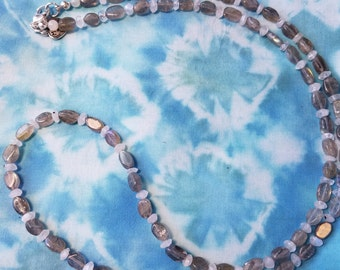 Labradorite and Moonstone Bead Necklace