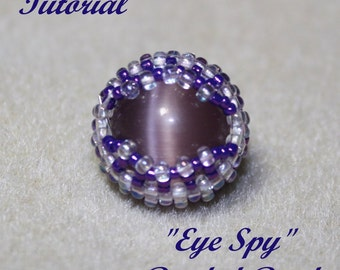 "Tutorial for beaded bead ""Eye Spy"""
