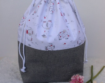 project bag extra large drawstring