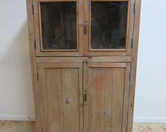 Antique Primitive architectural salvage Hutch China Cabinet Cupboard I