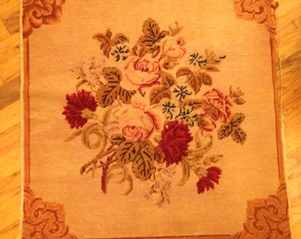Beautiful Antique Needlepoint!