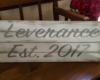 Custom driftwood style sign