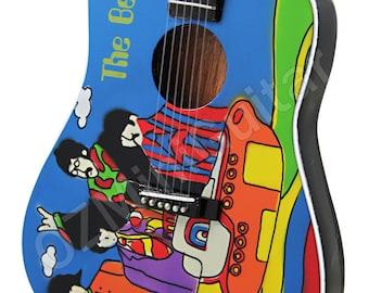 Miniature Guitar THE BEATLES Yellow Submarine Acoustic