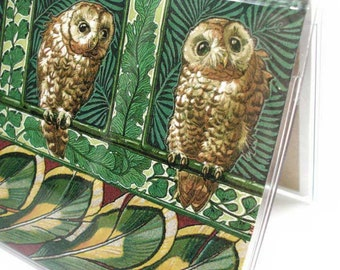2018 - 2019 mini Planner - Curious Owls pocket planner - two year planner - 2 year monthly planner horizontal