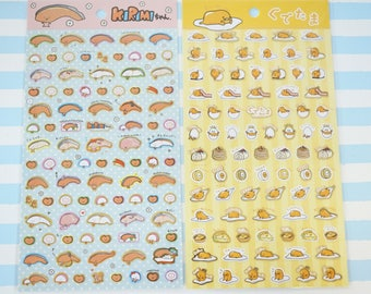 Limited Stock 2 Sheets / Gudetama and Kirimi-chan Stickers (((LAST/ no restock)))