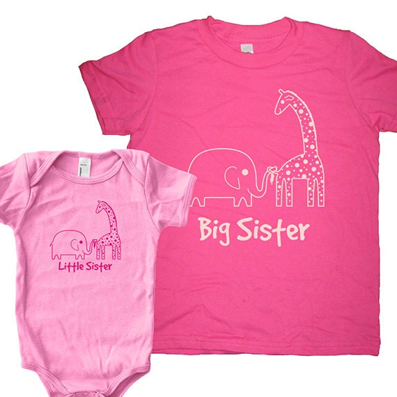 Big Sister Shirt / Little Sister Matching Shirt Set Sisters