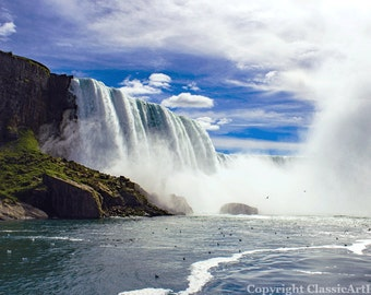 New York Print, Niagara Falls, Landscape Photography, Landscape Photo, Nature Photography, Waterfall Photo, Fine Art Photography
