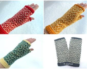Wool fingerless gloves,wool glove,womens fingerless mittens,hand knit fingerless glove,Norwegian wool wrist warmers, Valentines gift for Her