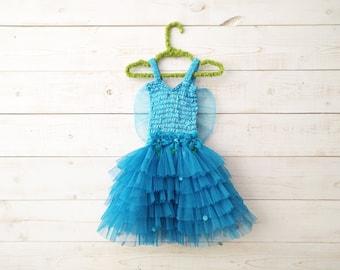 Butterfly Dress, Fairy Dress, Fairy Wings, Sequin Dress, Butterfly Wings, Flower Girl, Floral Dress, Wedding, Flower Girl Dress, Blue Tutu