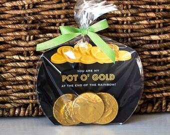 Printable St. Patrick's day Pot of Gold Treat Bag