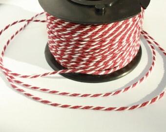 2 mm Cotton Yarn 1 Plastic Spool = 55 Yards = 50 Meters of Elegant 100 % COTTON Twisted CORD Great House Decor Macrame Rope Wedding Decor
