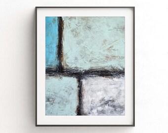 Instant download printable art print blue white modern painting lines wall decor art abstract art modern artwork home decor