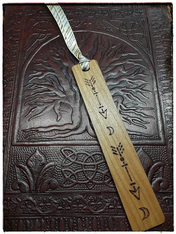 Arrows & Moon Wooden Bookmark