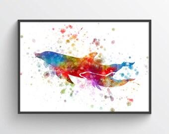 Dolphin Poster, Dolphin Print, Dolphin Art, Dolphin Decor, Home Decor, Gift Idea