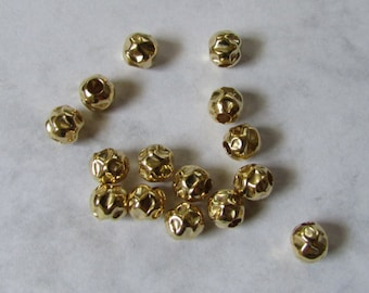 Hammered beads Etsy