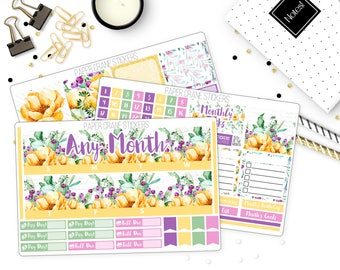 Sunshine - Monthly Kit ANY MONTH - Planner Stickers
