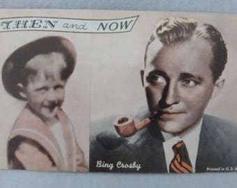 Vintage Mid Century Arcade Cards Then and Now Bing Crosby