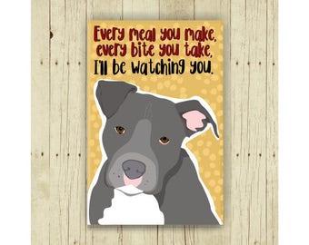 Pit Bull Magnet, Pitbull Magnet, Pittie, Dog Magnet, Dog Lover Gift, Pit Bull Gift, Fridge Magnet, Refrigerator Magnet, Funny Dog Gift