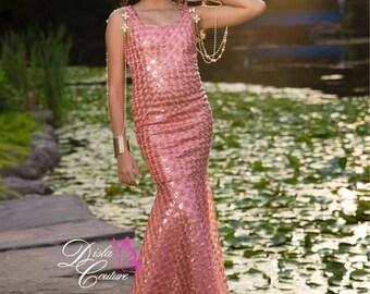 Coral Mermaid Tail Dress