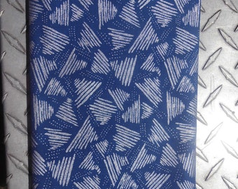 Blue and silver Christmas fabric 1994  1 yard
