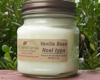 VANILLA BEAN NOEL type Candle - Vanilla Candles, Caramel Candles, Popular Gifts, Mason Jar Candles, Strong Candles, Scented Candles, Rustic