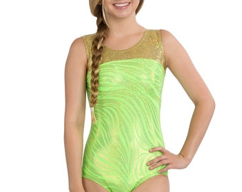 LIZATARDS Leotard Gymnastics/Dance  Z-Stripe Girls Small (5-6)