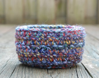 Crochet Basket - Entryway Storage Basket - Boho Decor - Crochet Bowl - Catchall - Decorative Baskets - Trinket Bowl - Modern Home Decor
