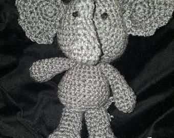 Crochet Amigurumi Elephant Stuffed Toy