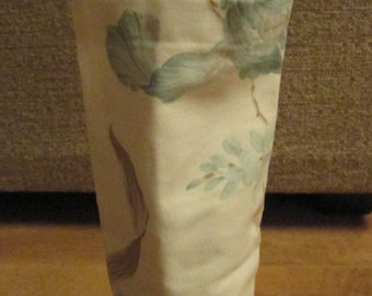 Blue and white flower fabric Wine Bottle Carrier