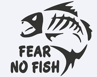 Fear No Fish Yeti vinyl Decal