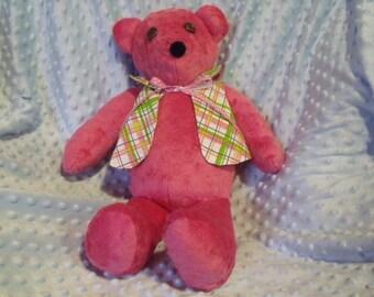 Handmade Soft Teddy Bear with optional monogram