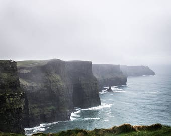 Travel Photography, Cliffs of Moher, Ireland, Home Decor, Wall Art, Photography