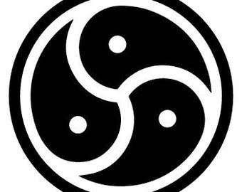 BDSM Triskele/Triskelion Vinyl Decal/Sticker