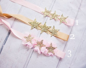Maternity Sash, Twinkle Twinkle Little Star Baby Shower, Pink Maternity Sash, Twinkle Twinkle Little Star Gender Reveal