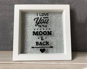 I Love You To The Moon And Back Memory Frame