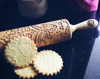 MAJESTIC rolling pin, embossing rolling pin, engraved rolling pin by laser