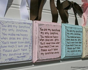 Custom You Are My Sunshine Distressed Shabby Chic Plaque