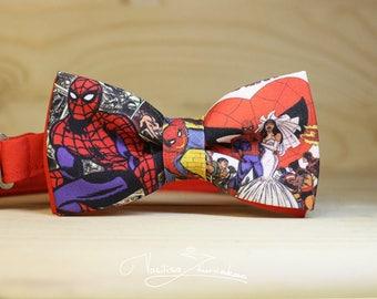 Spiderman Bow tie - Bowtie marvel comics Bow Ties, Bow Ties, BowTie, Creative bow tie, Funny bow tie, Designer bowtie