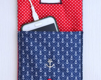 Anchor Navy blue cell phone Pocket