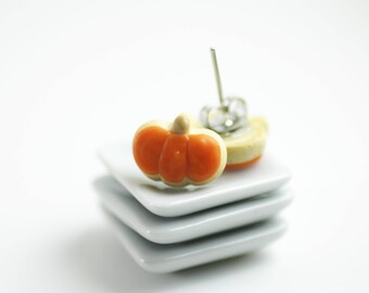 Halloween Earrings, Cookie Earrings, Halloween Jewelry, Pumpkin Earrings, Polymer Clay Food, Miniature Food, Miniature Food Jewelry, Pumpkin
