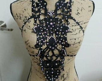 Body - harness - cage - halter - burlesque - costume