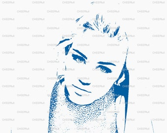 Miley Cyrus Matted Print