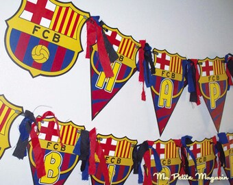 Free Shipping / FC Barcelona Birthday Banner - Barcelona Birthday Banner - Barcelona Banner - FC Barcelona Birthday Party
